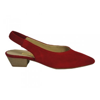 Stijlvolle pump in rood