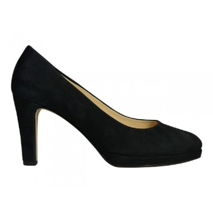 Elegante pump met plateau en soft & smart  voetbed.