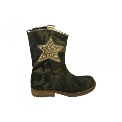 Stoere hippe laars in army print