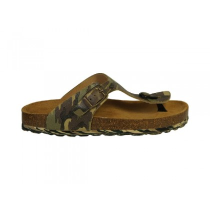 Stoere teenslipper in camouflage print