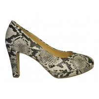 Prachtige trendy pump in snake print