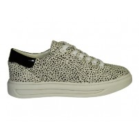 Trendy sneaker in zwart/wit print