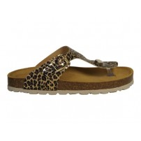 Trendy slipper in leopard print